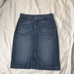 Loft Denim Pencil Skirt Sz 2